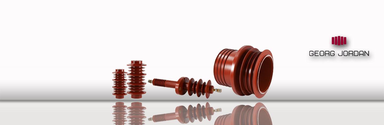 Standard-Isolatoren sowie Durchführungen für Außenwendungen.